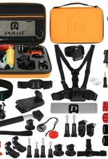 PULUZ PKT26 53 in 1 Portable Action Set Mount for DJI Action Cam   GoPro Hero 5 4/3+/3/2/1 SJ4000/5000/6000/Xiaomi Yi