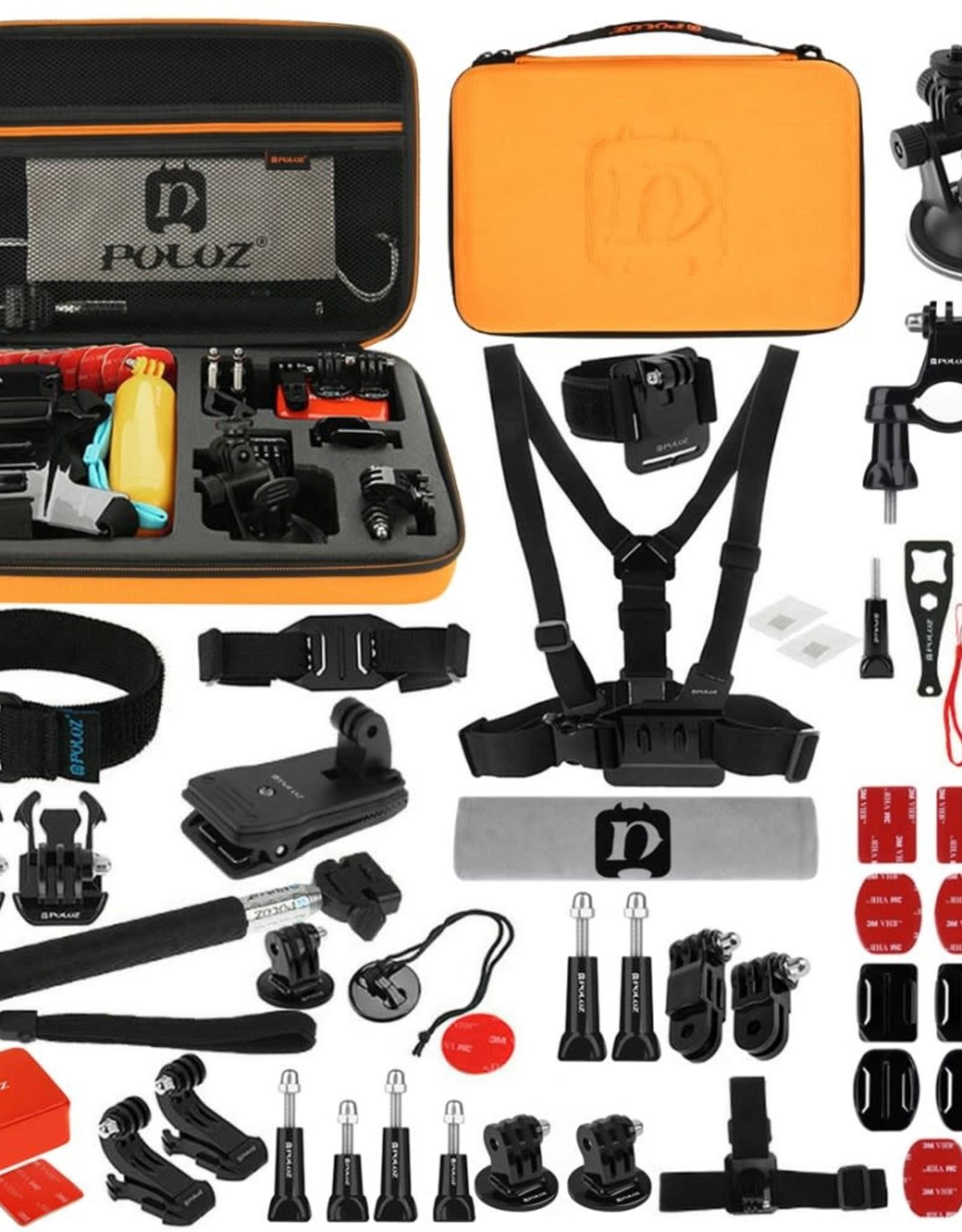 PULUZ PKT26 53 in 1 Portable Action Set Mount for DJI Action Cam | GoPro Hero 5 4/3+/3/2/1 SJ4000/5000/6000/Xiaomi Yi