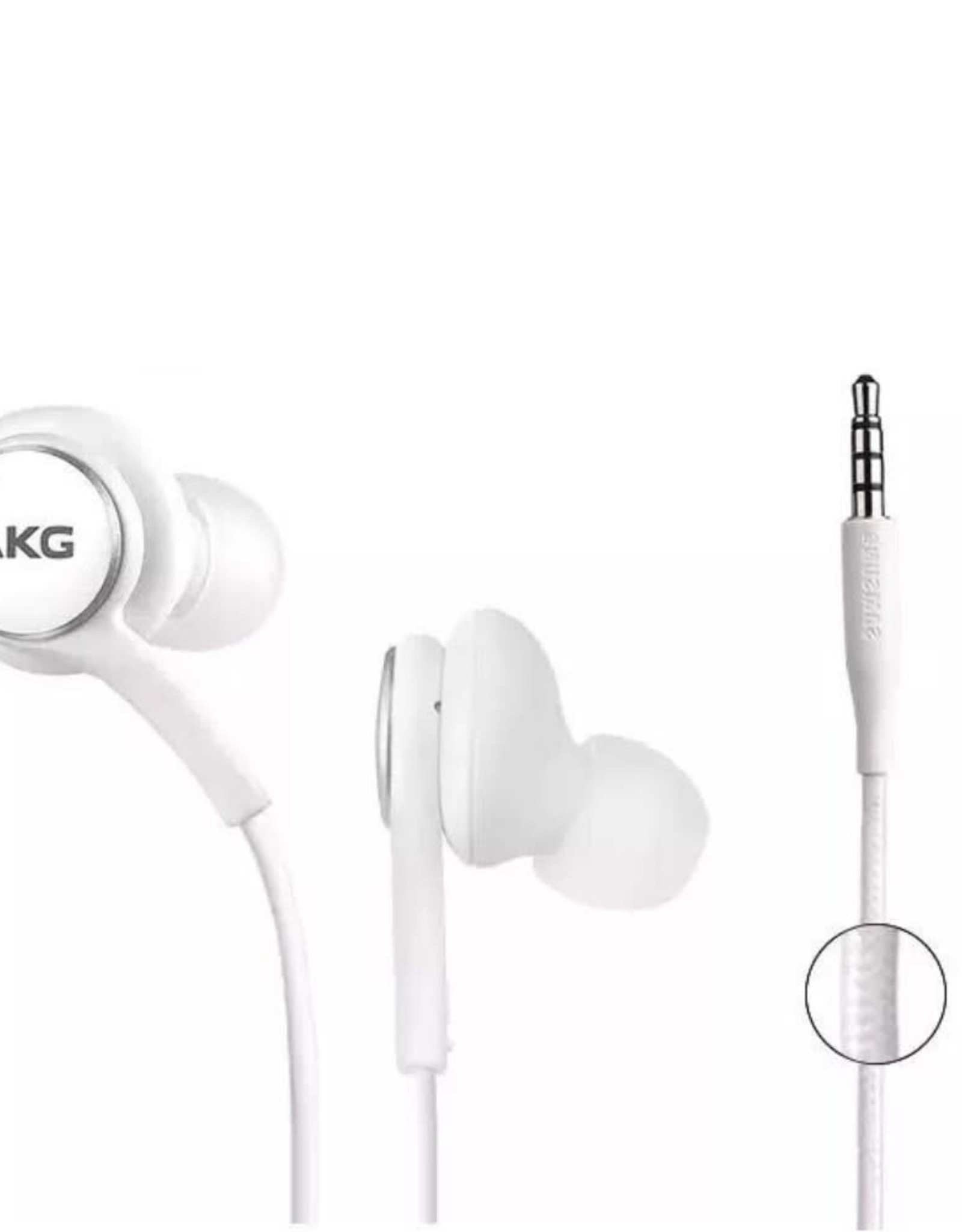 Samsung AKG EO-IG955 Stereo Handsfree Earphone Headphone with Mic and Remote Control - White