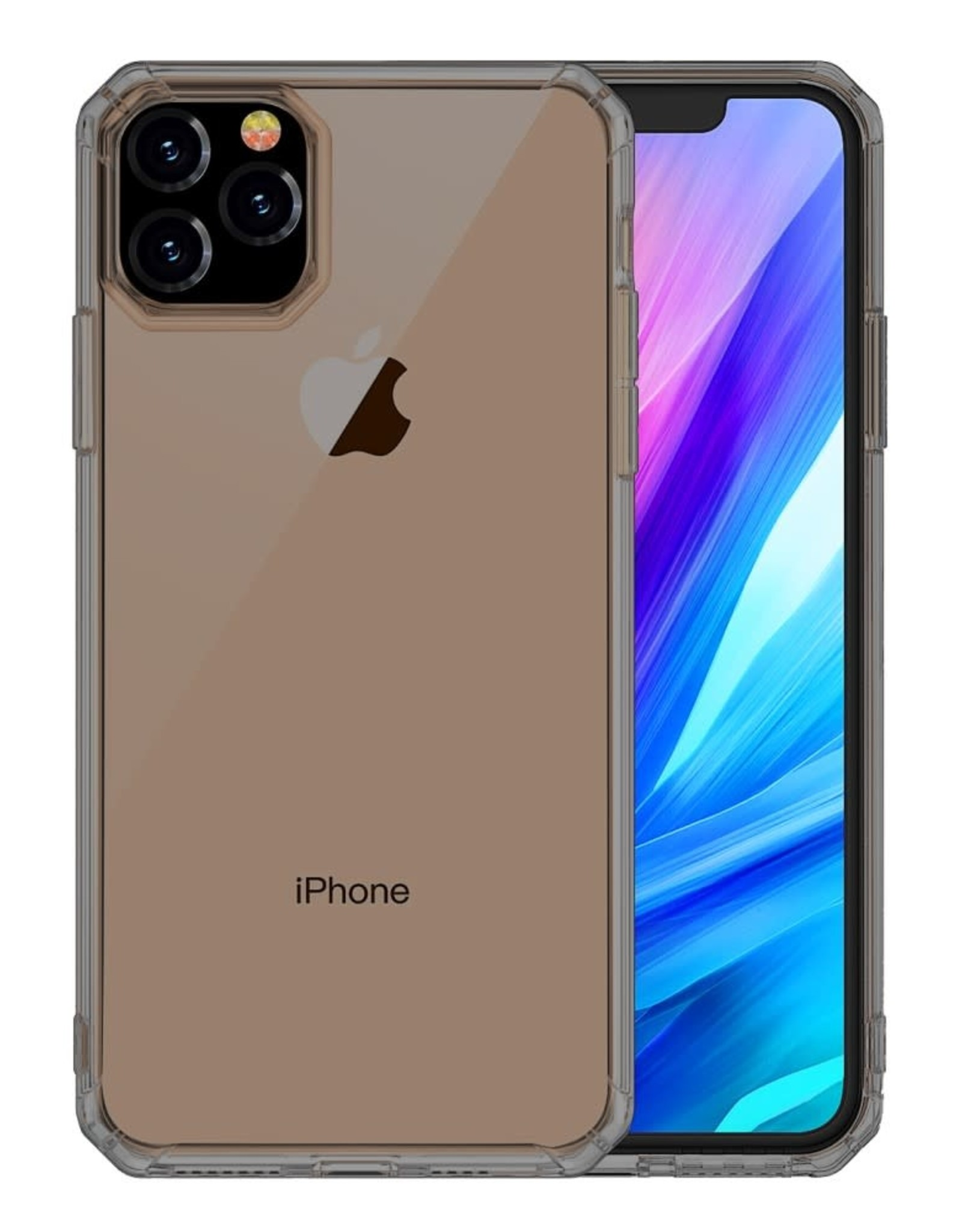 LEEU DESIGN Air Cushion Shockproof TPU Shell Cover for iPhone 11 Pro 5.8 inch (2019) - Smoke