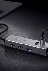 Baseus BASEUS 5 USB Ports USB Hub Type-C to USB3.0 x 3 + USB2.0 x 2 Cube Hub Adapter Converter - Dark Grey