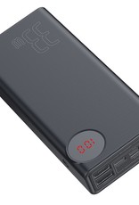 Baseus Power Bank 4 USB Port w/ LED Display 30000 mAh Black