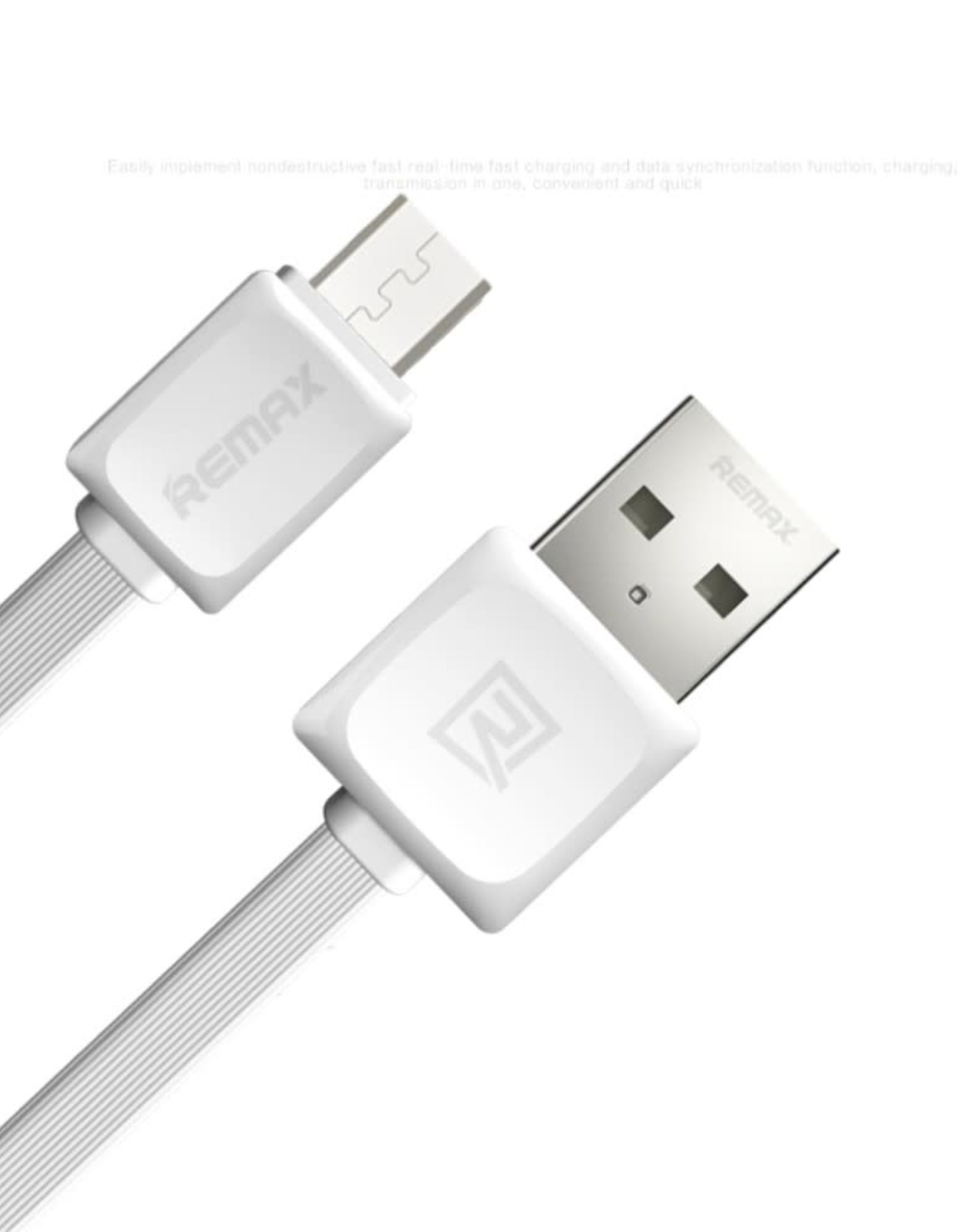 REMAX Fast Data Charging Cable Micro USB Cord - White