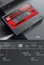 Remax Retro Tape Style Power Bank USB External Battery 10000mAh
