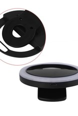 Rechargeable Selfie Ring Light with 36Pcs LED for Phone Camera - Black