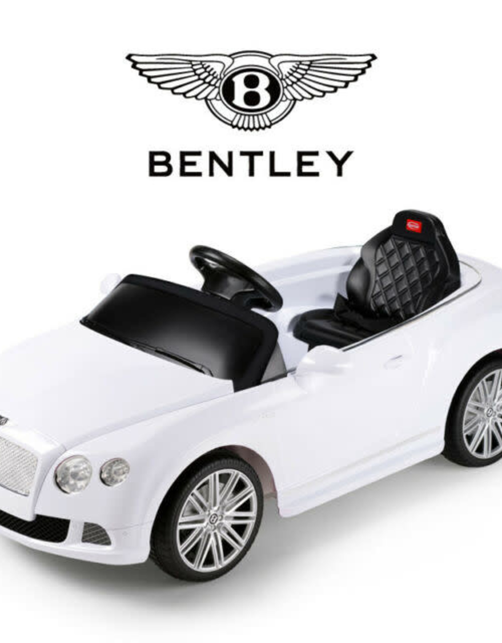 Bentley GTC 12v White Ride On Car (Remote Controlled) WHITE