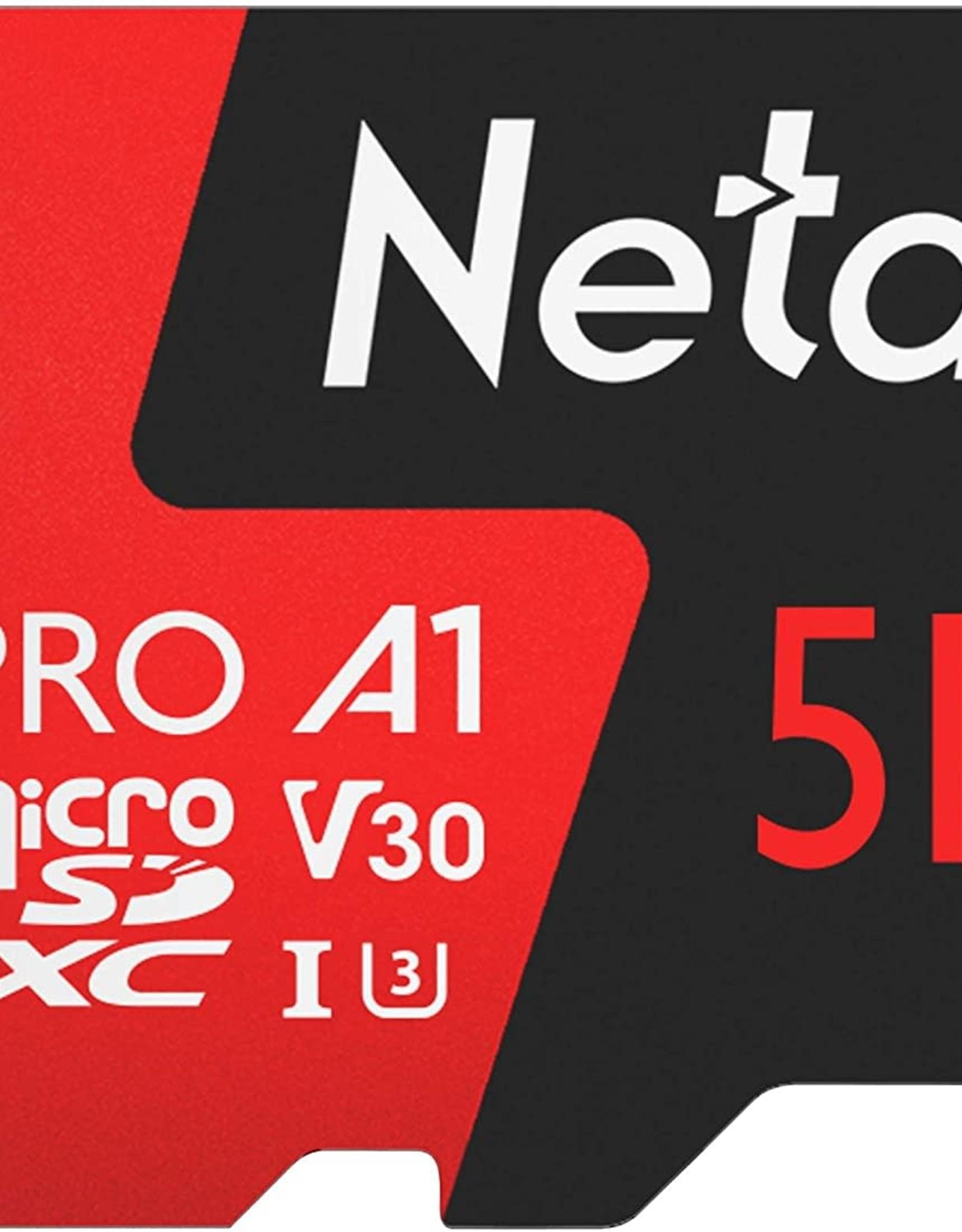 Netac 512GB P500 Pro microSDXC CL10 UHS-I U3 V30 A1 Memory Card w/SD Adapter
