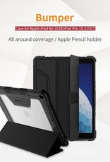 iPad Air 10.5 inch (2019) / Pro 10.5-inch (2017) 10.5-inch (3rd Gen) A2152 NILLKIN Bumper Leather Case Smart Tablet Cover