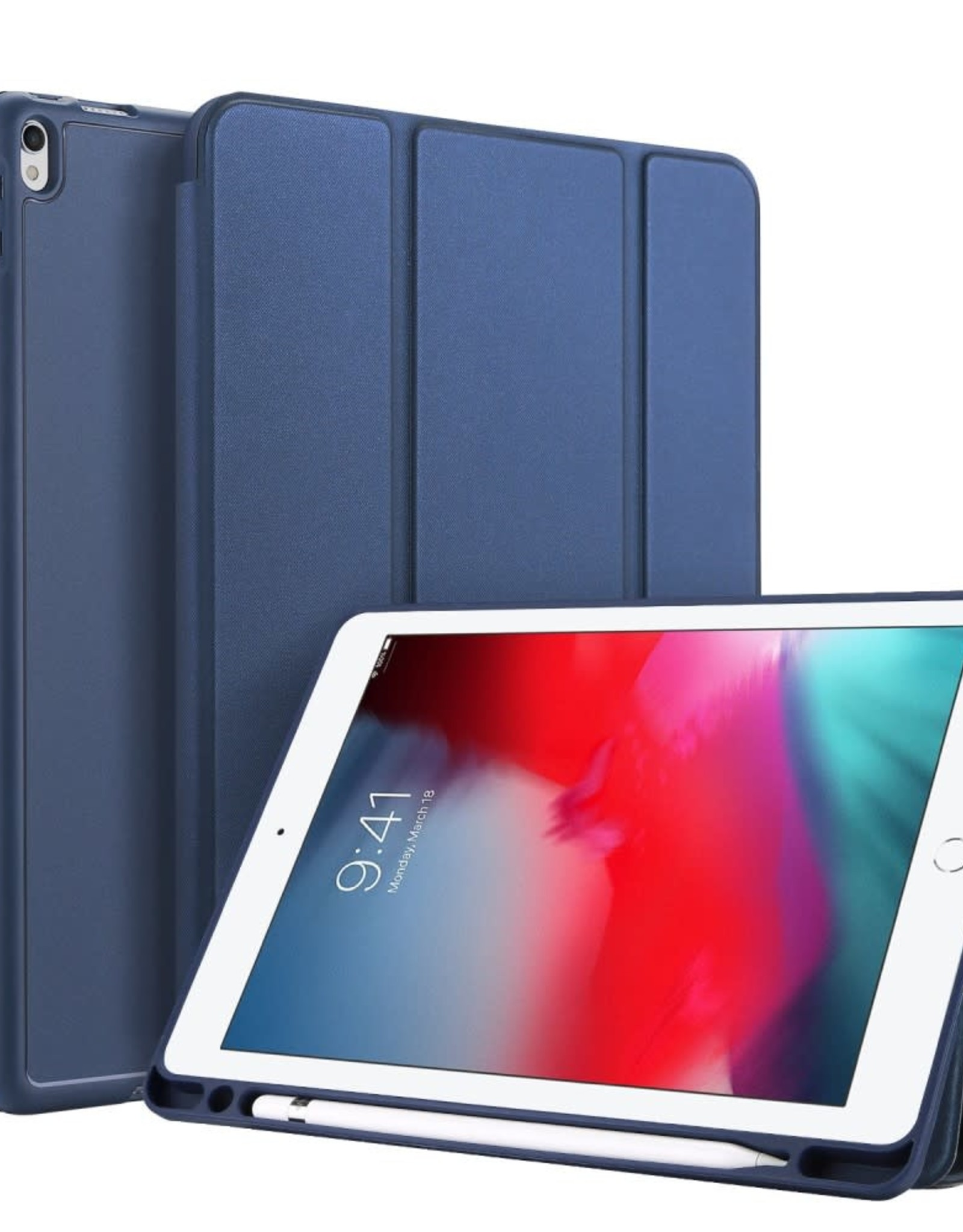 iPad Air 10.5 inch A2152 DUX DUCIS Tri-fold Stand PU Leather Tablet Shell with Pen Holder (2019) / iPad Air 3 / iPad Air (3rd generation)