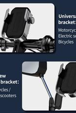 iPhone Samsung Huawei BASEUS Motorcycle Holder Bicycle   Bike Motorbike Handlebar Phone Bracket   Mount- Black