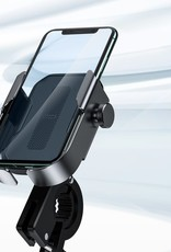 iPhone Samsung Huawei BASEUS Motorcycle Holder Bicycle | Bike Motorbike Handlebar Phone Bracket | Mount- Black