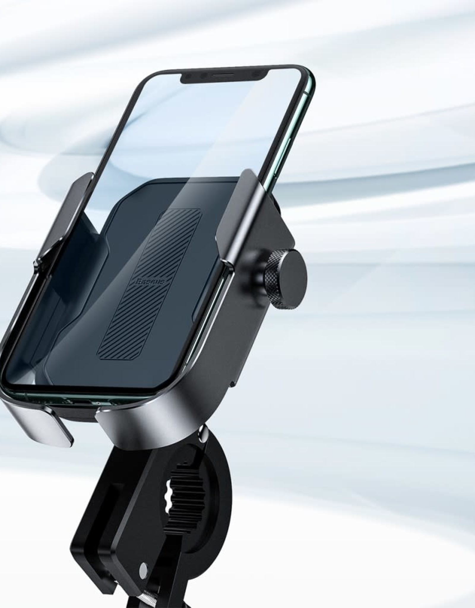 iPhone Samsung Huawei BASEUS Motorcycle Holder Bicycle | Bike Motorbike Handlebar Phone Bracket | Mount- Black
