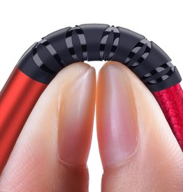 ESSAGER Micro USB to USB Nylon Braided Data Charging Cord w/ LED Indicator 1m - Red