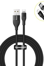 BASEUS USB-A+Type-C To Lightning Dual Output Data Cable, 1m