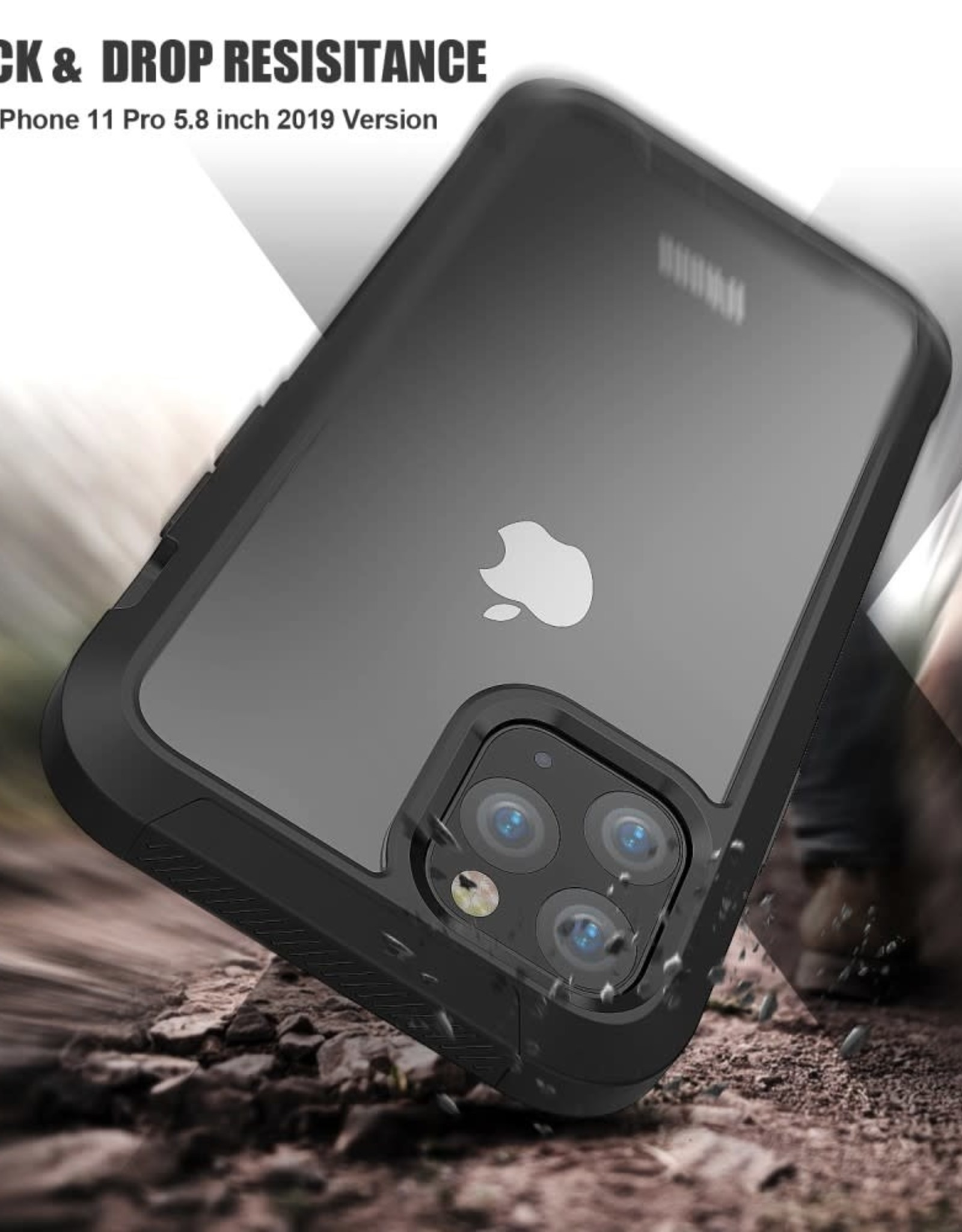 Non-slip Shockproof Edge Clear Case
