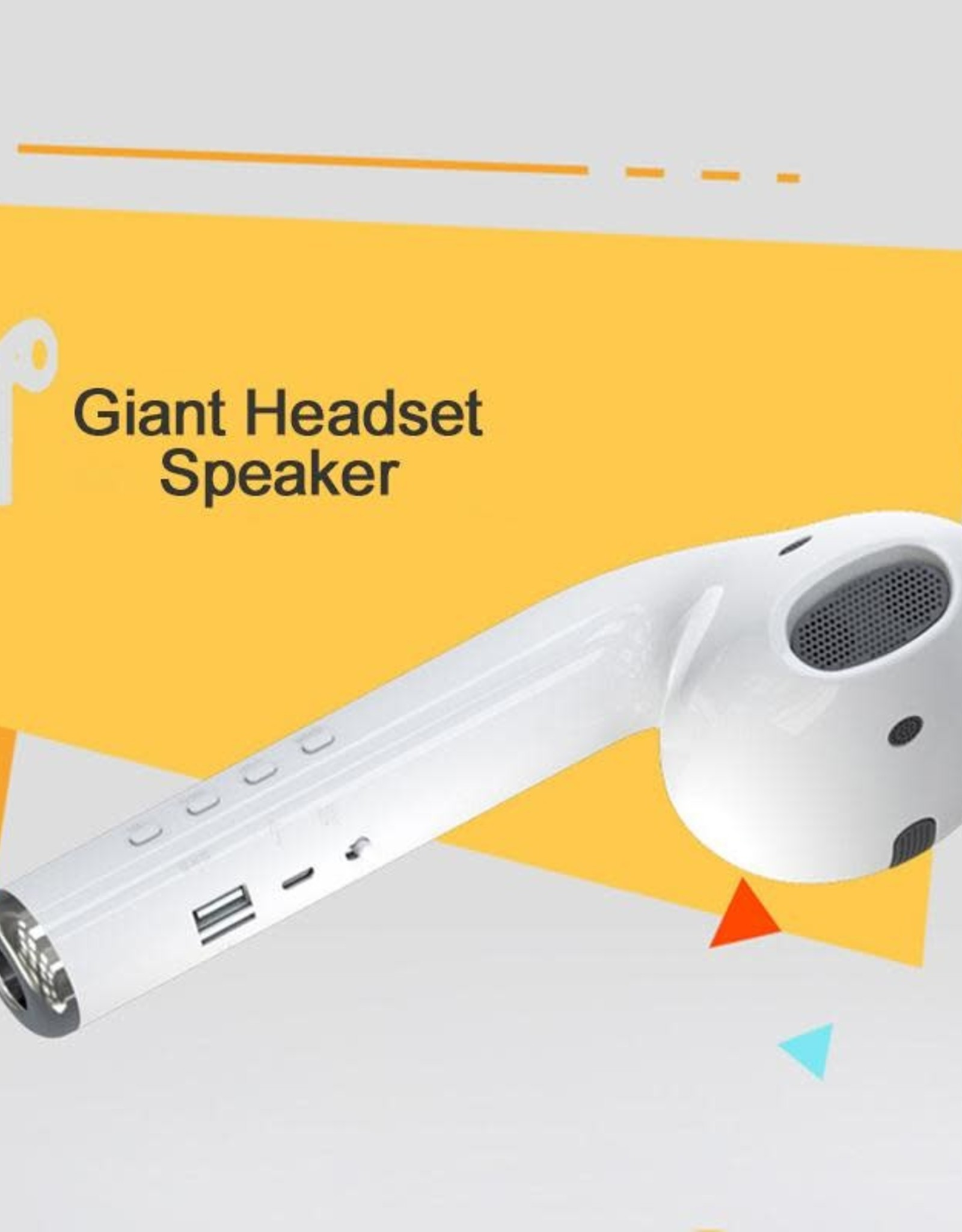 Oversized Giant Airpod Bluetooth Speaker