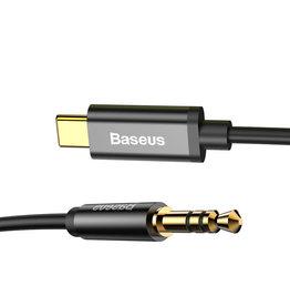 Baseus Baseus Type-C to 3.5 Male Aux Cord Black