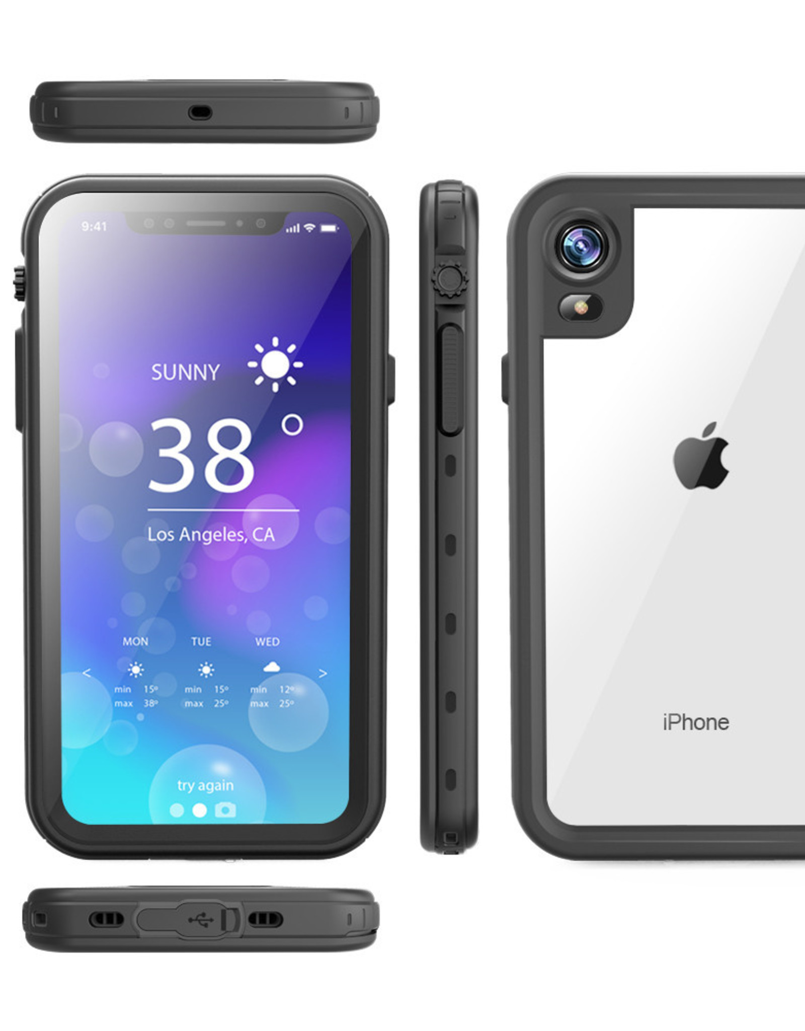 RedPepper Dot+ Water Proof Snow Proof + Shock  Proof + Dirt Proof + Case Cover iPhone XR