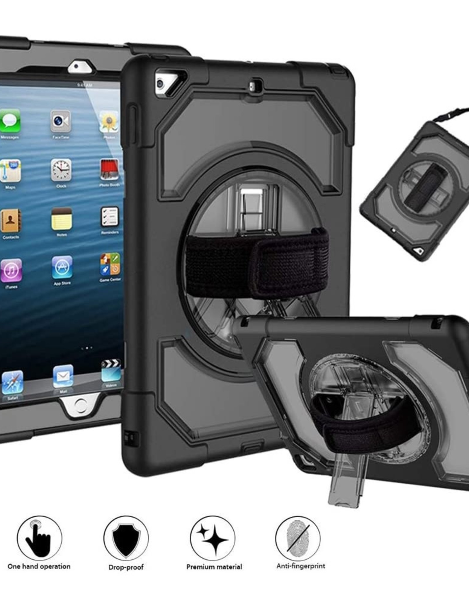 360 Swivel Kickstand with Shoulder Strap for iPad 10.2