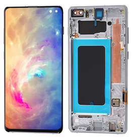 Samsung Samsung Galaxy S10 Plus G975 OEM LCD Screen and Digitizer Assembly + Frame Part - Black