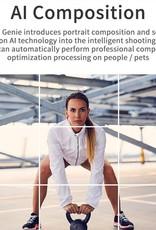 Selfie Smart Auto Shooting Stick Apai Genie 360°Intelligent Object Tracking Holder Black