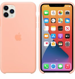 Apple iPhone 11 Pro Max Silicone Case Grapefruit