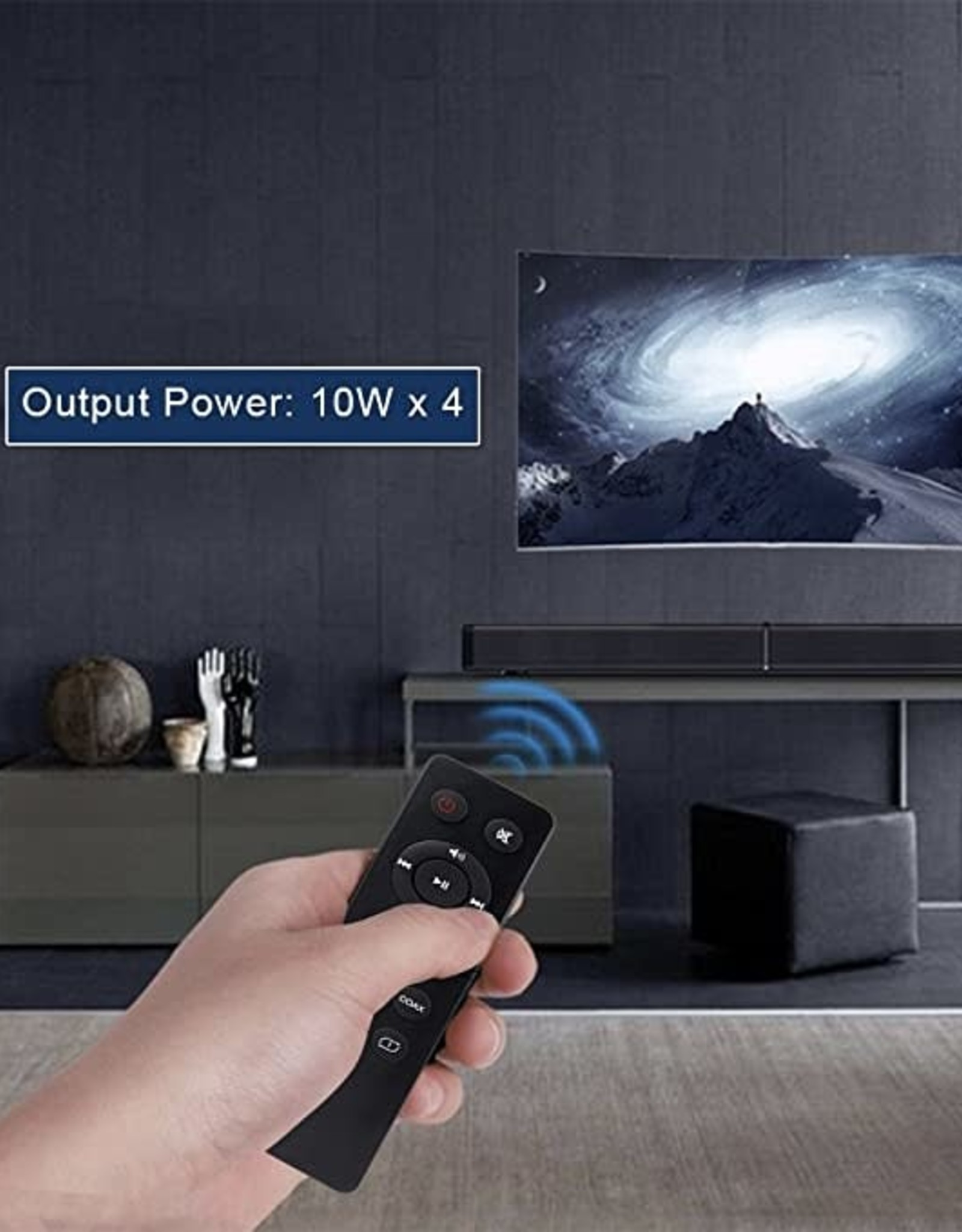Sound Bar LP-09 Bluetooth Speaker Home Furniture TV Echo Wall Soundbar Wall-Mounted Remote Control U-Disk
