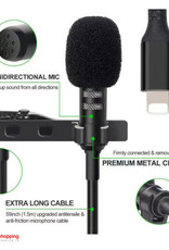 LAVALIER MICROPHONE JH-041 - For iPhone for Audio Recording