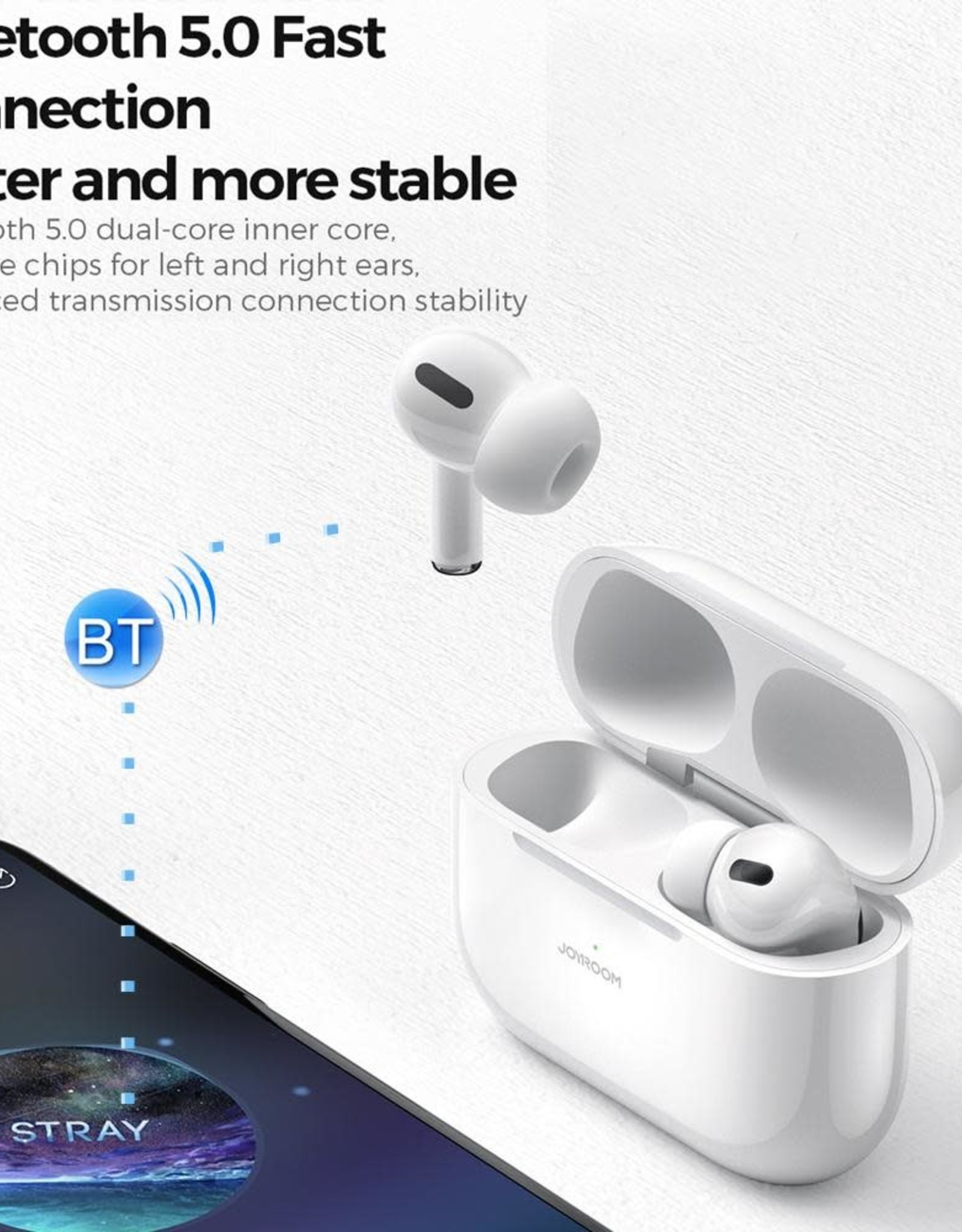 Joyroom JOYROOM AirPod JR-T03S Pro Bluetooth 5.0 ANC TWS Noise Reduction Bluetooth Earphone with Charging Case