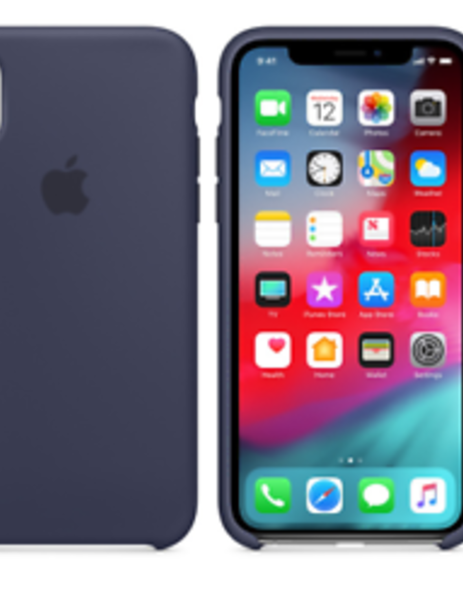Apple IPhone X/XS Silicone Midnight Blue