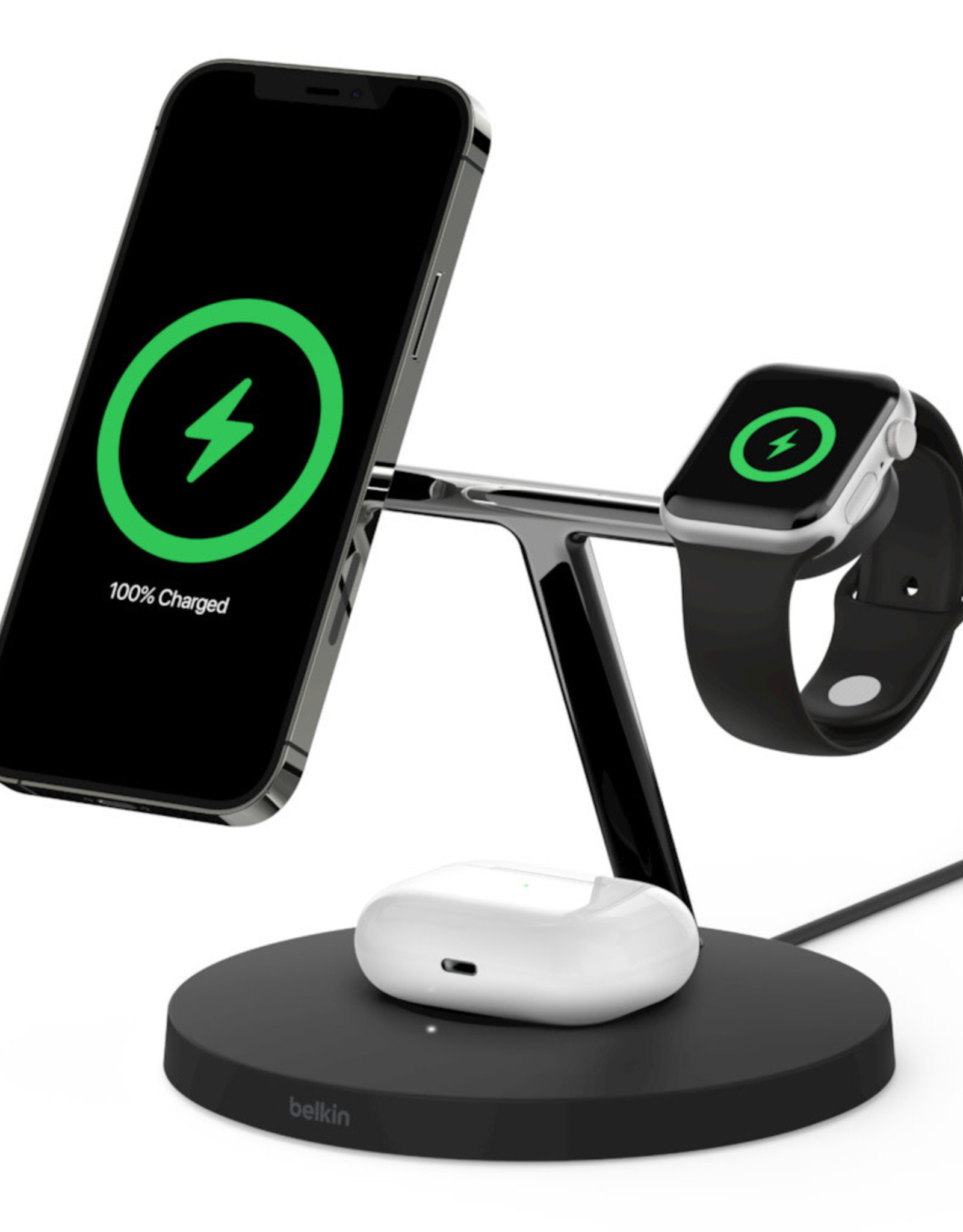 3in1 Wireless Fast Charger 25w  Black