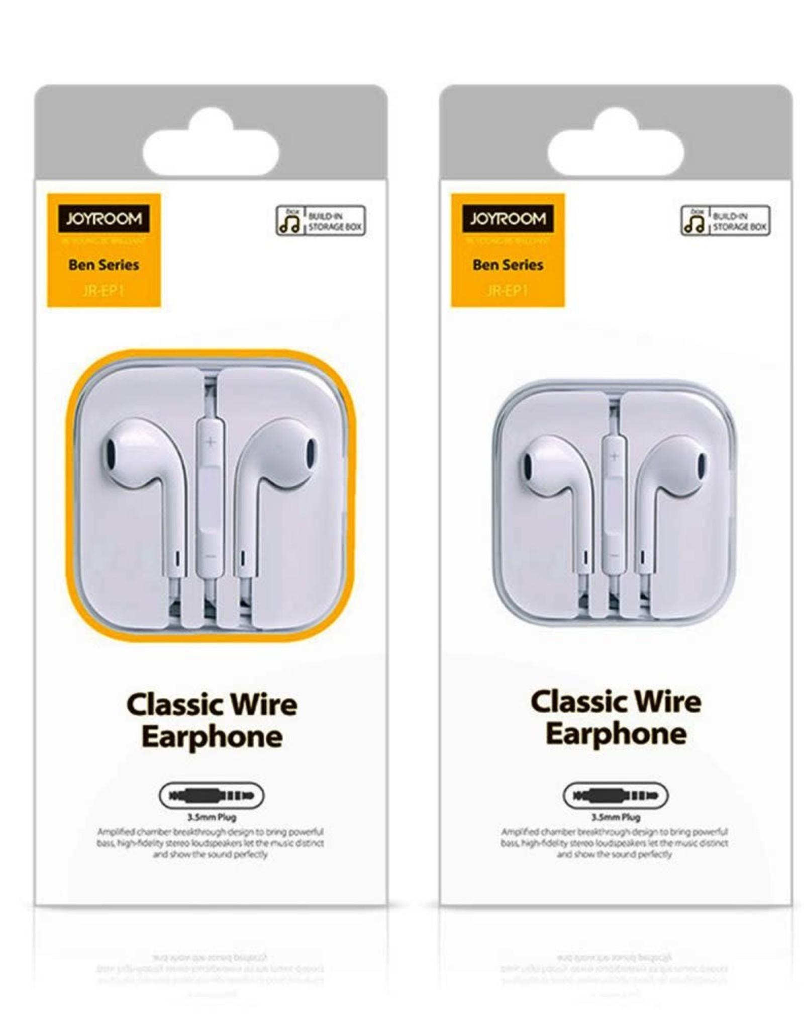 Joyroom JR-EP1 Earphone Ben Series Smart Quality Earphone Wired Headset without Mic