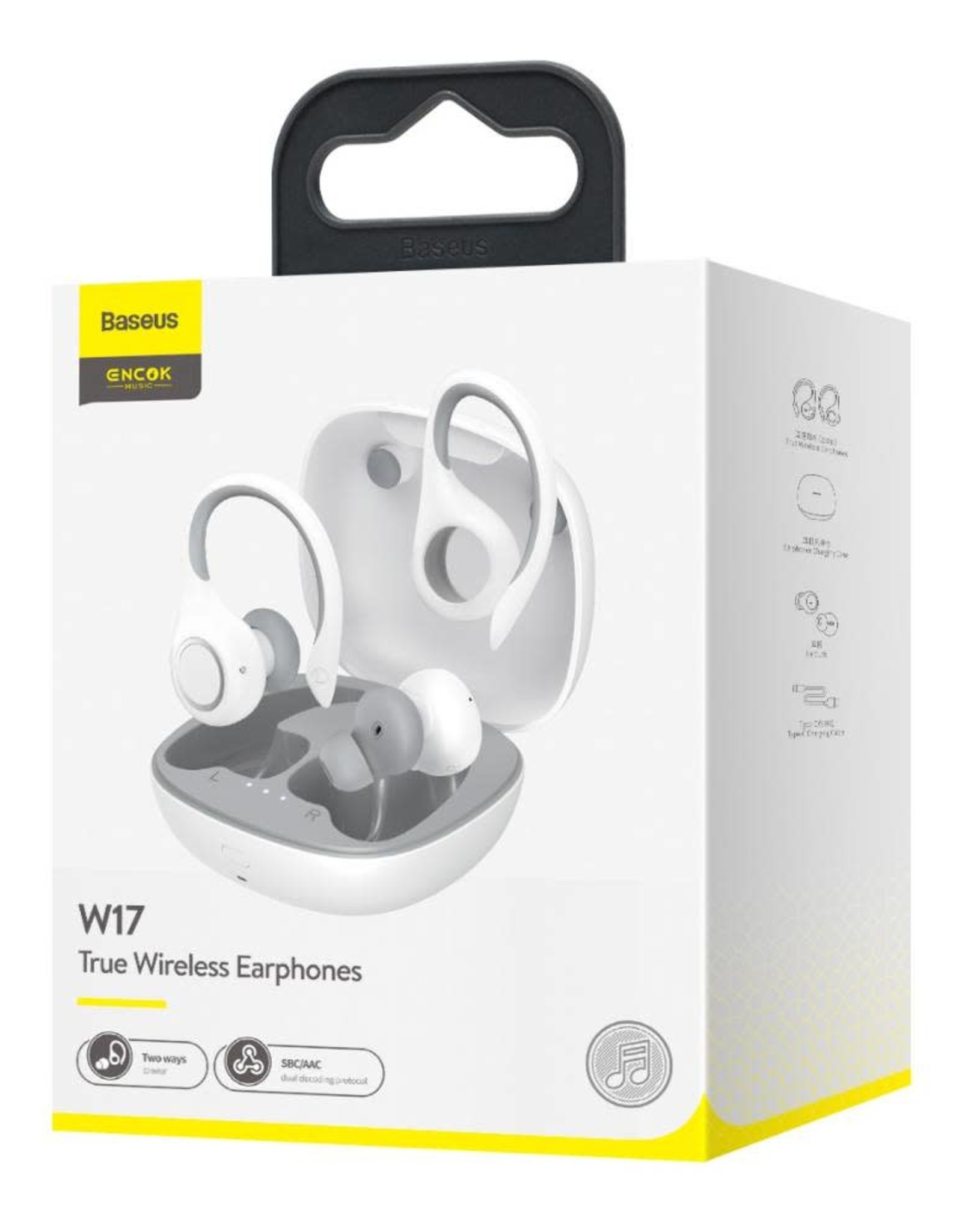 Baseus Baseus Encok TWS W17 wireless headphone with earhook White