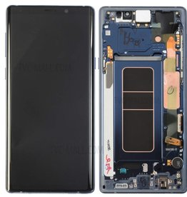 Samsung Samsung Galaxy Note 9 N960 OEM LCD Screen and Digitizer Assembly Part + Frame  - Blue