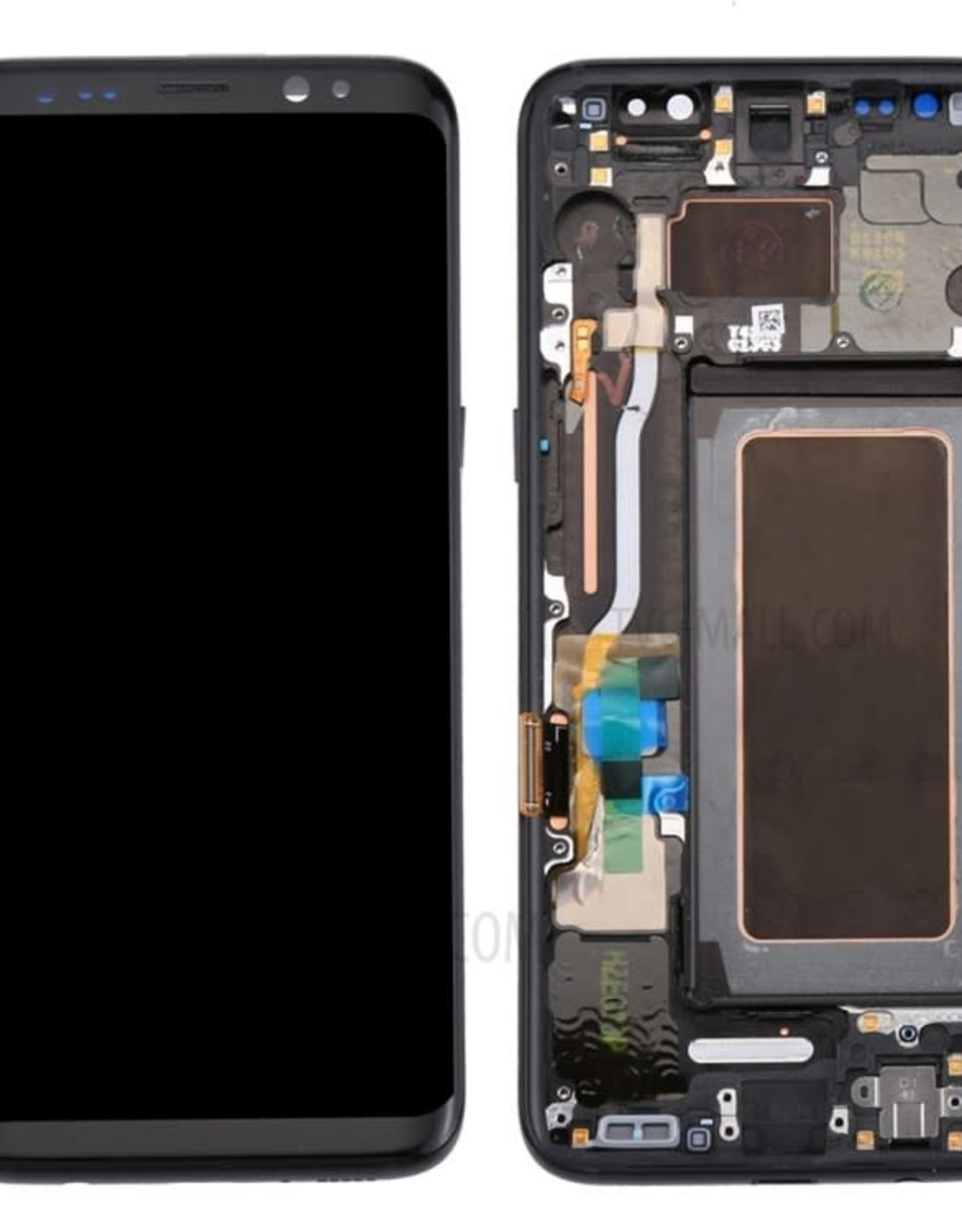 Samsung Samsung Galaxy S8 G950 OEM LCD Screen and Digitizer Assembly + Frame + Small Parts - Black