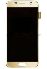 Samsung Galaxy S7 SM G930 G930F G930A G930V G930P G930T G930R4 G930W8 LCD Display Touch Digitizer Screen LCD Display and Touch Screen w/ Frame - GOLD