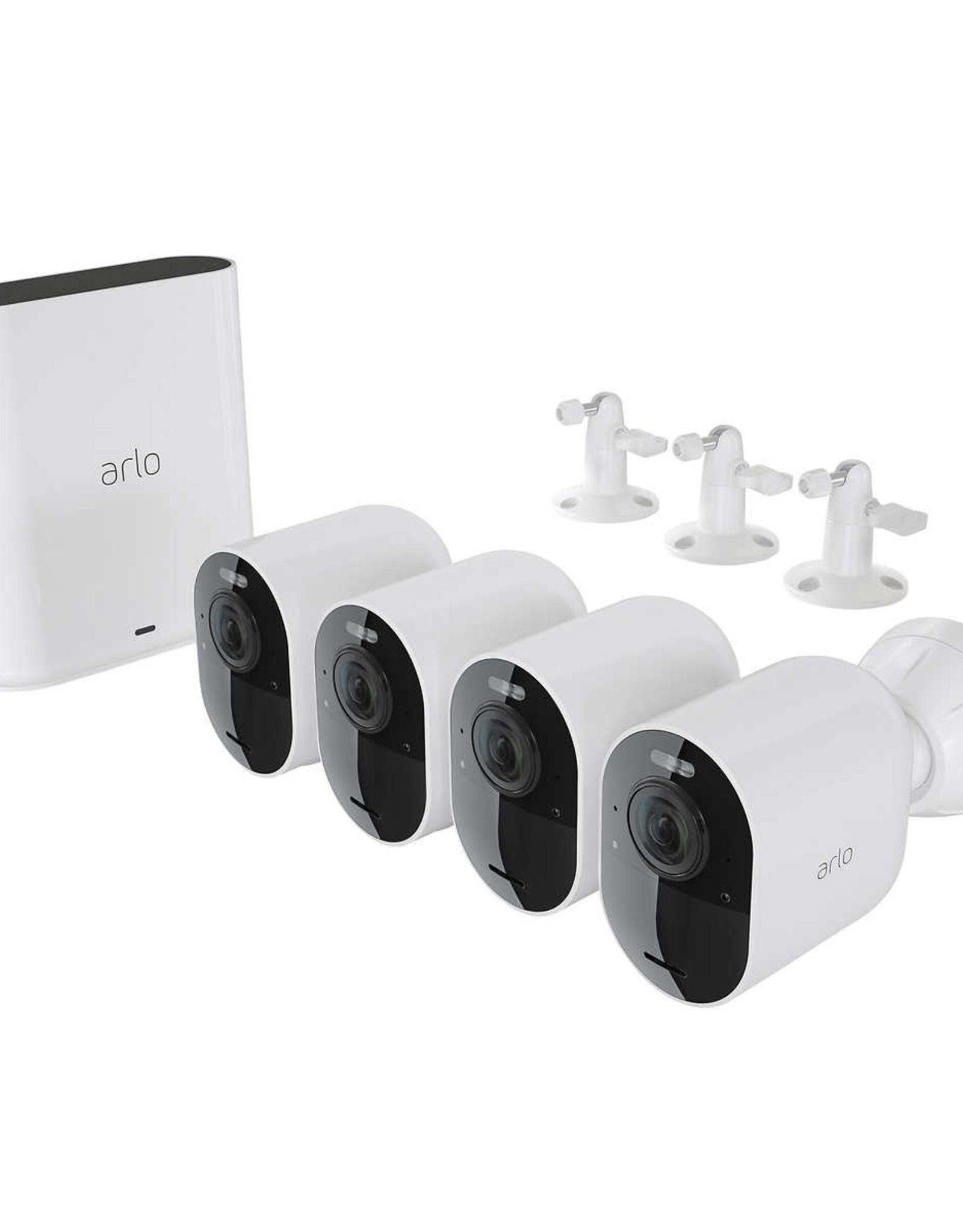 Arlo Arlo - Essential Spotlight Camera – Indoor/Outdoor Wire-Free 1080p Security Camera (4-pack) - White