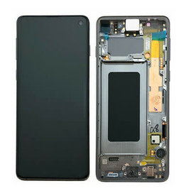 Samsung Samsung Galaxy S10 G973 OEM LCD Screen and Digitizer Assembly Part with Frame - Black