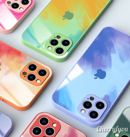 iPhone Watercolor Back Glass Case
