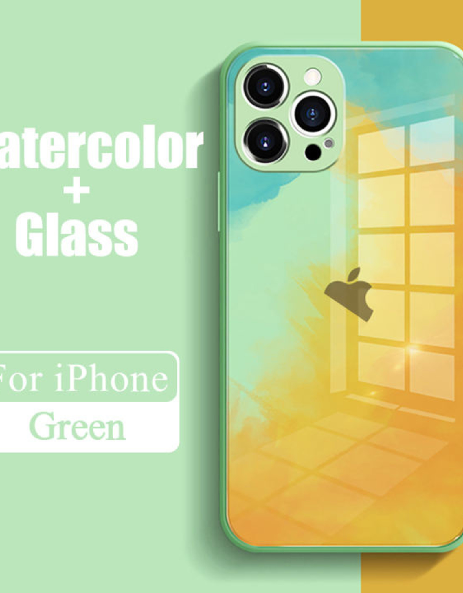 Watercolor Back Glass Case