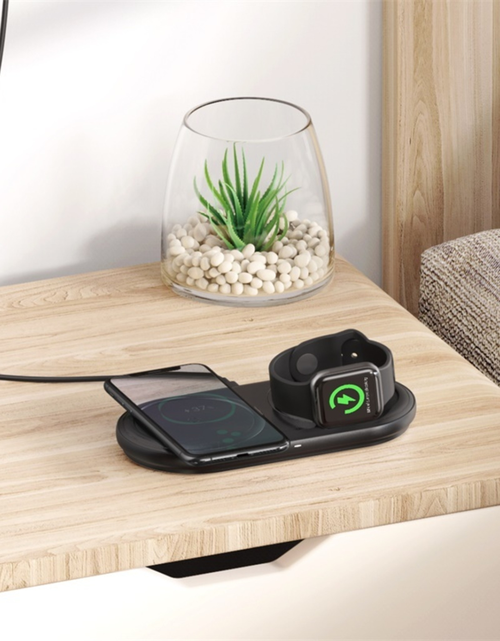 Baseus Planet 2 in 1 Cable Winder + Wireless Charger