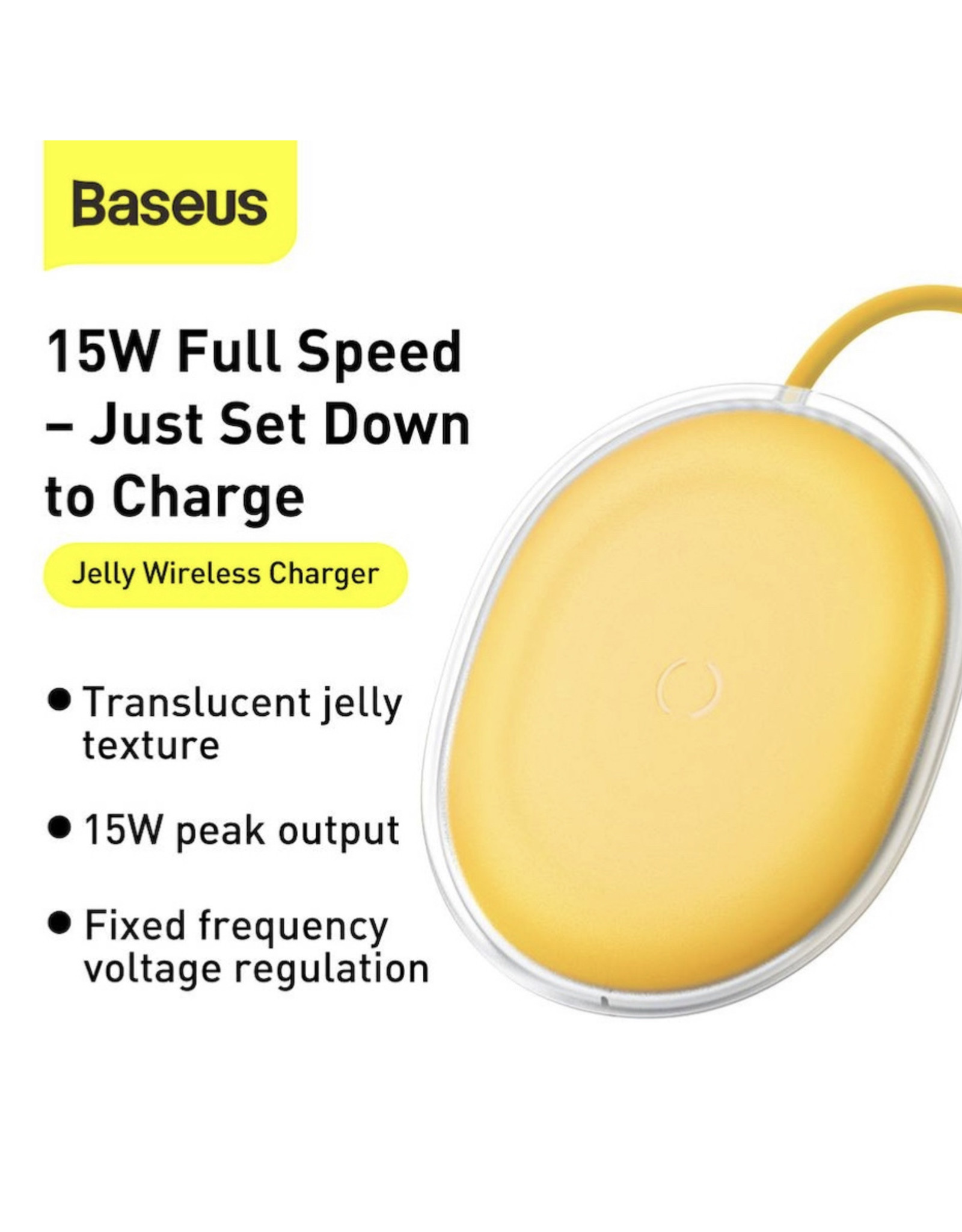 Baseus Baseus Jelly wireless charger 15W Yellow