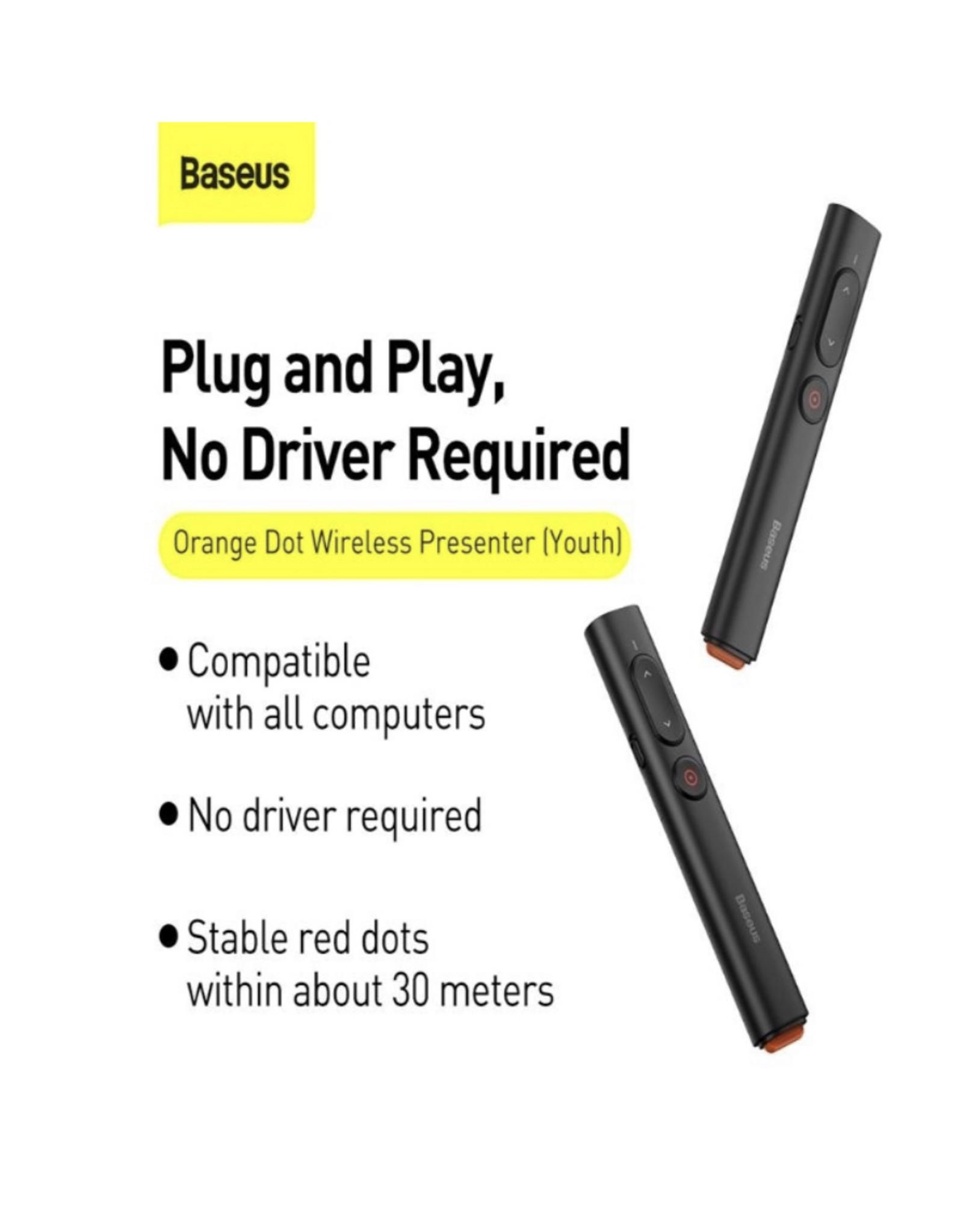 Baseus Baseus Orange Dot Wireless Presenter (Red Laser) Grey Baseus Cloud 6
