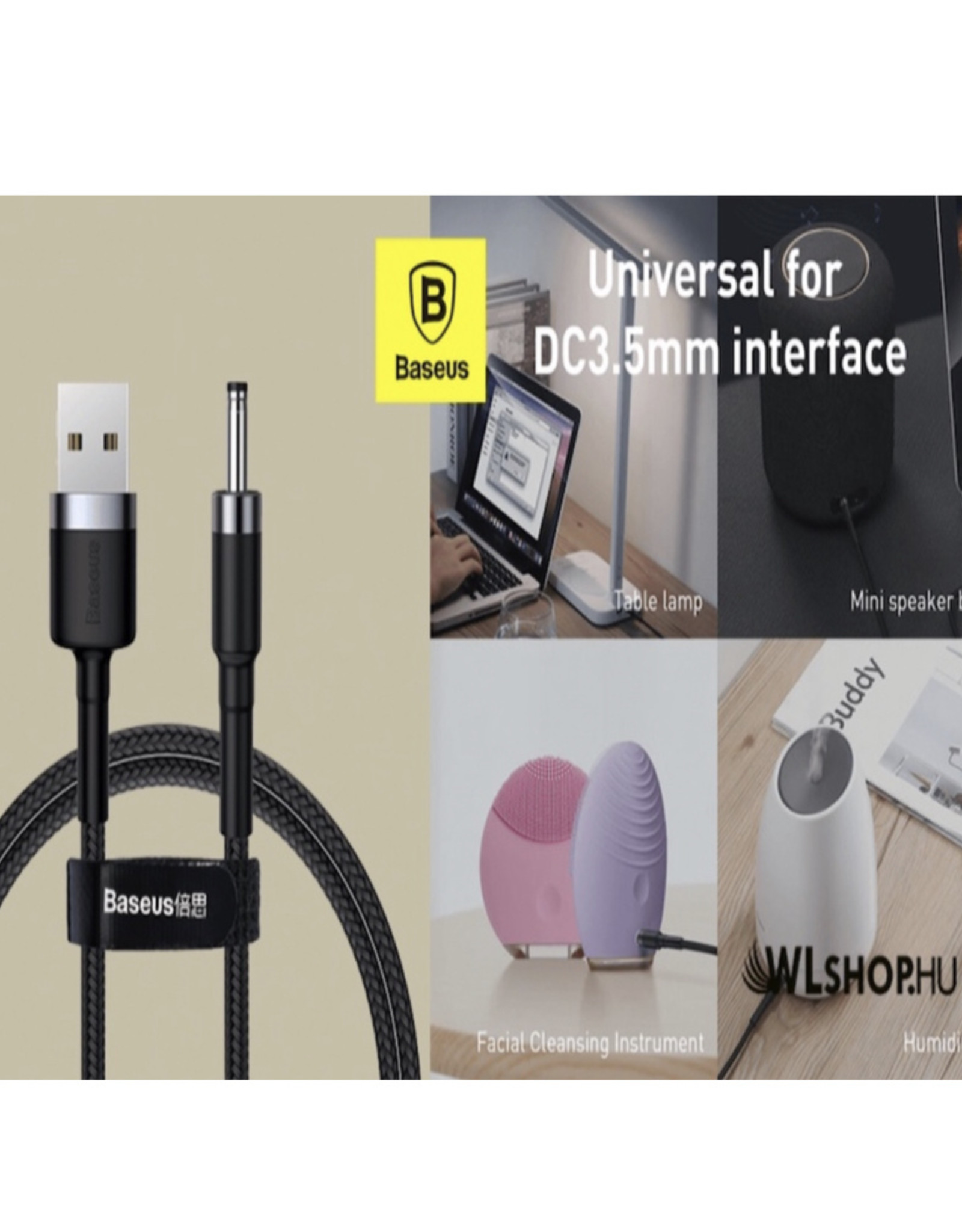 Baseus Baseus Cafule Series Charging Cable USB to DC 3.5mm