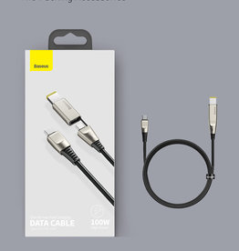 Baseues Baseus One-For-Two Fast Charging  Cable Data Cable Type-C to C+DC 100w 2m