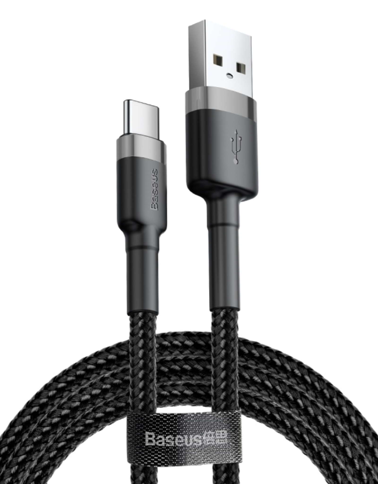 Baseus Baseus Cafule Cable USB For Type-C 2A 3m Gray+Black