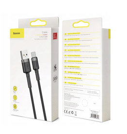 Baseus Baseus Cafule Cable USB For Type-C 2A 3m Gray+Black