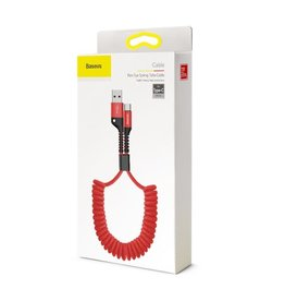 Baseus Baseus Fish Eye Spring Data Cable USB For Type-C 3A 1m Red