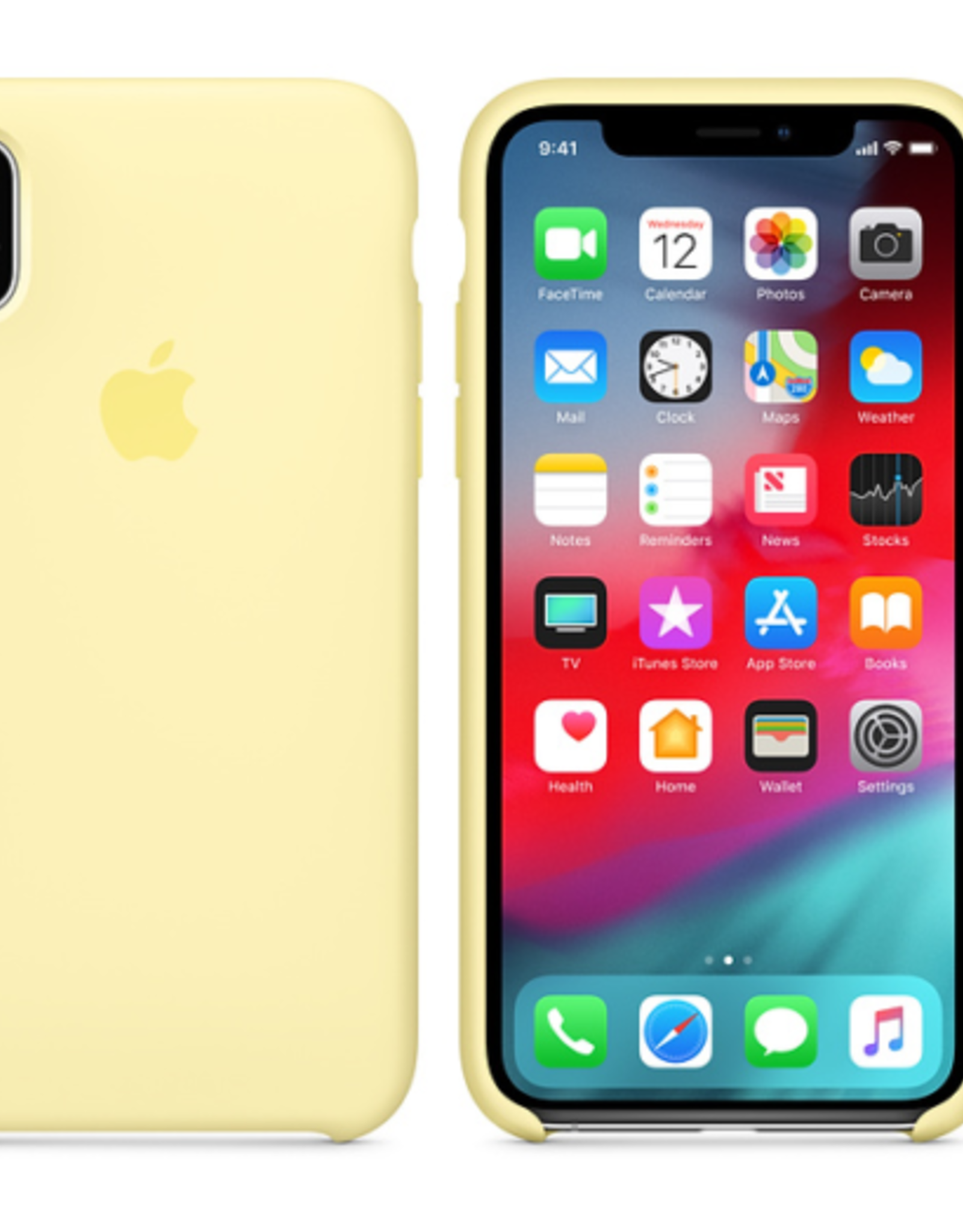 Apple Mellow Yellow iPhone Silicone Case