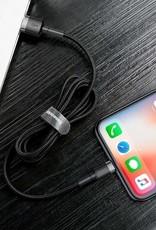 Baseus Baseus Cafule Cable USB For Lightning 1.5A 2M Gray+Black